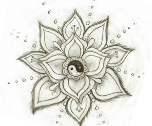 flowers, draw, and drawing image