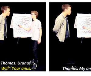 newt, will poulter, and thomas brodie sangster image