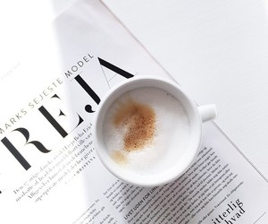 coffee, white, and magazine image