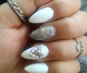 heart, nails, and white image