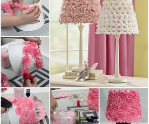 diy, flowers, and lamp image