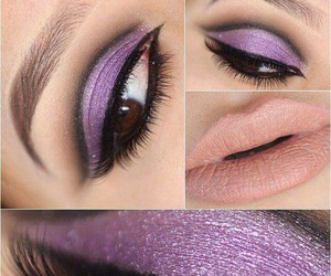 eyes, fashion, and purple image