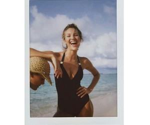 model, beach, and candice swanepoel image