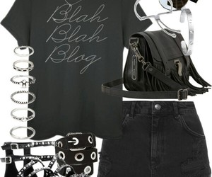 fashion, hipster, and black style image