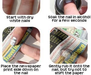 nails, newspaper, and nail art image