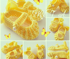baby shoes, craft, and crochet image