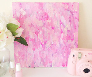 painting, pink, and room image