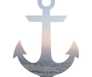 sea, sunset, and anchor image
