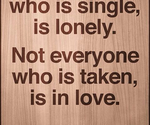 love, single, and lonely image
