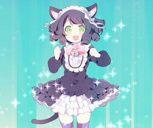anime, anime girl, and cat ears image