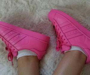 adidas, pink, and beautiful image
