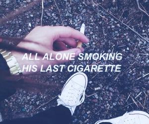 blue, cigarette, and found image