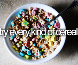 before i die, cereal, and food image