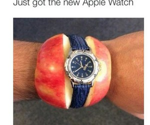 funny, apple, and watch image