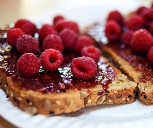 food, raspberry, and fruit image