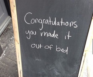 bed, congratulations, and quote image