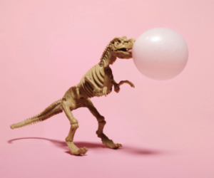 aesthetic, bubble, and dinosaur image
