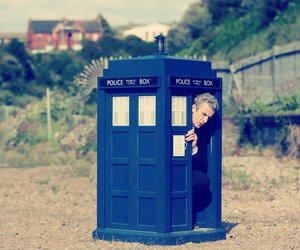 tardis, blue box, and doctor who image