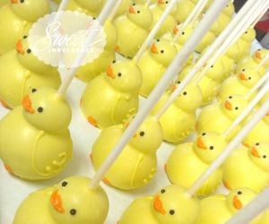 cake pops, food, and duckies image