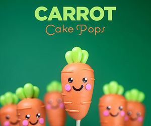 cake pops, carrots, and sweet image