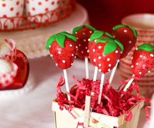 cake and strawberry pops image