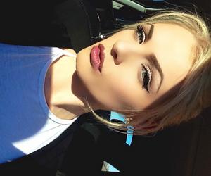 blonde, lipstick, and pretty image