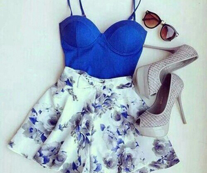 blue, heels, and style image