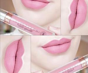 gloss, make up, and pink image