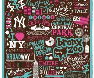 design, new york, and typography image