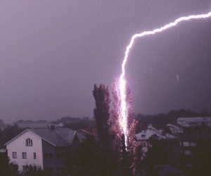 lightning, grunge, and nature image