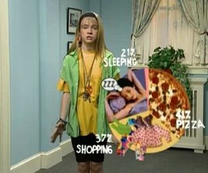 clarissa explains it all, pizza, and sleeping image
