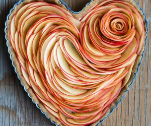 heart, apple, and cake image