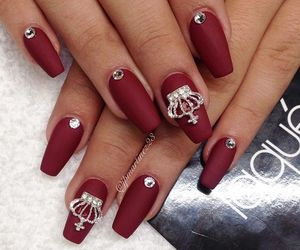 nails, red, and crown image