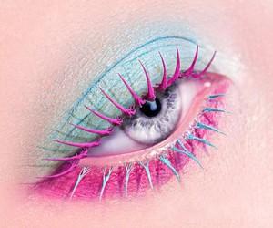 makeup, eye, and pink image