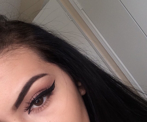 eyebrow, eyes, and hair image