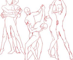 how to draw, couple, and dance image