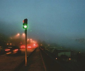 fog, night, and road image
