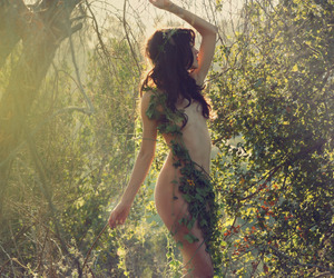 forest, girl, and hippy image