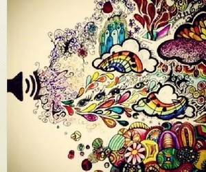 music, life, and abstract image