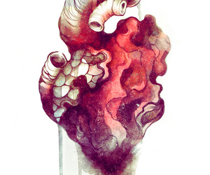 abstract, watercolor, and anatomy image