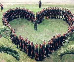 love, heart, and military image