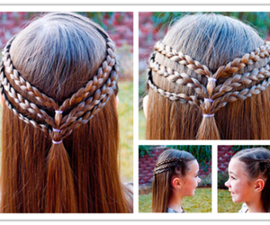 braid, diy, and hair image