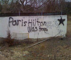 paris hilton, grunge, and graffiti image
