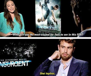 insurgent, theo james, and four image