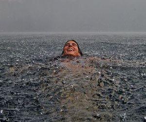rain, water, and ocean image