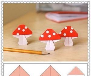 origami, mushroom, and Paper image