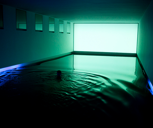 water, green, and light image