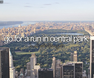 Central Park, new york, and run image
