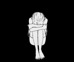 sad and black and white image