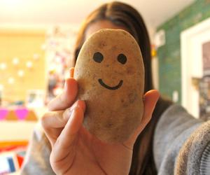 potato, smile, and funny image